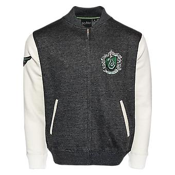 Licensed harry potter™ unisex slytherin™ applique embroidery baseball jacket