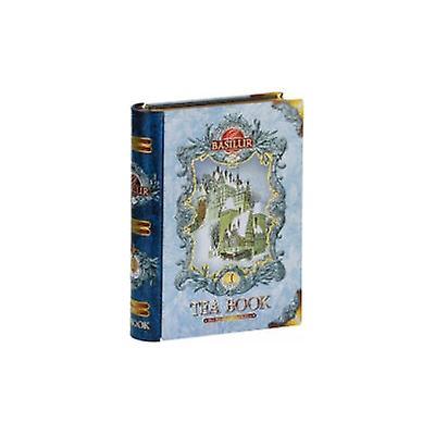 Tea Book Volume I Blue Metal Tin Caddy