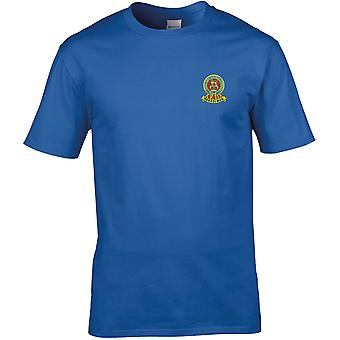 15th 19th Royal Kings Hussars farve-licenseret British Army broderet Premium T-shirt