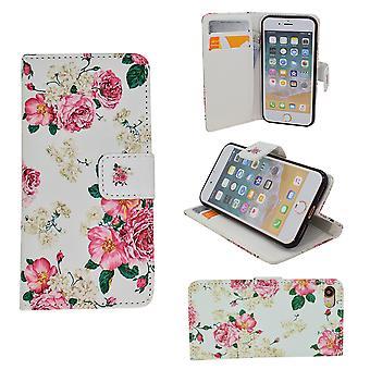 Iphone 5/5 s/se2016 - Fall / Brieftasche In Leder - Blumen