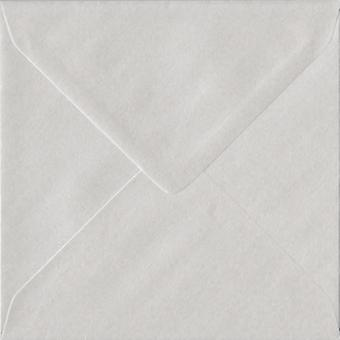White Pearl Gummed 130mm Square Coloured White Envelopes. 100gsm FSC Sustainable Paper. 130mm x 130mm. Banker Style Envelope.