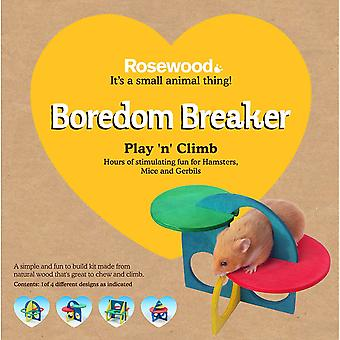 Rosewood Boredom Breaker Small Animal Activity Toy Play-n-Climb Kit