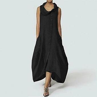 Asymmetrisk casual Loose Plus størrelse kjole