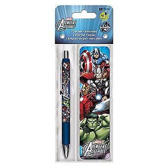 Avengers Assemble Gel Pen & Bookmark Pack