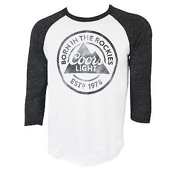 Coors Light Raglan Sleeve Tee Shirt