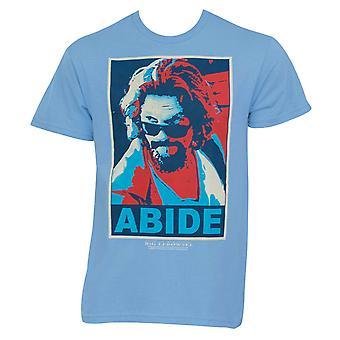 Big Lebowski posterized pysyä vaaleansininen graafinen T-paita
