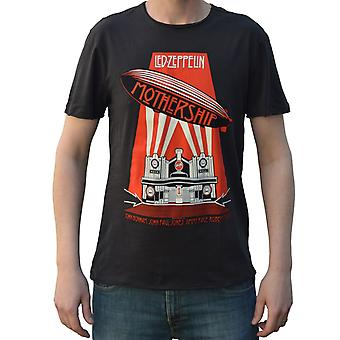Amplified Led Zeppelin Mothership Charcoal Crew Neck T-Shirt XXL