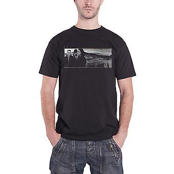U2 T Shirt l'Album de chansons de Joshua Tree Cover Band Logo officiel Mens noir nouveau