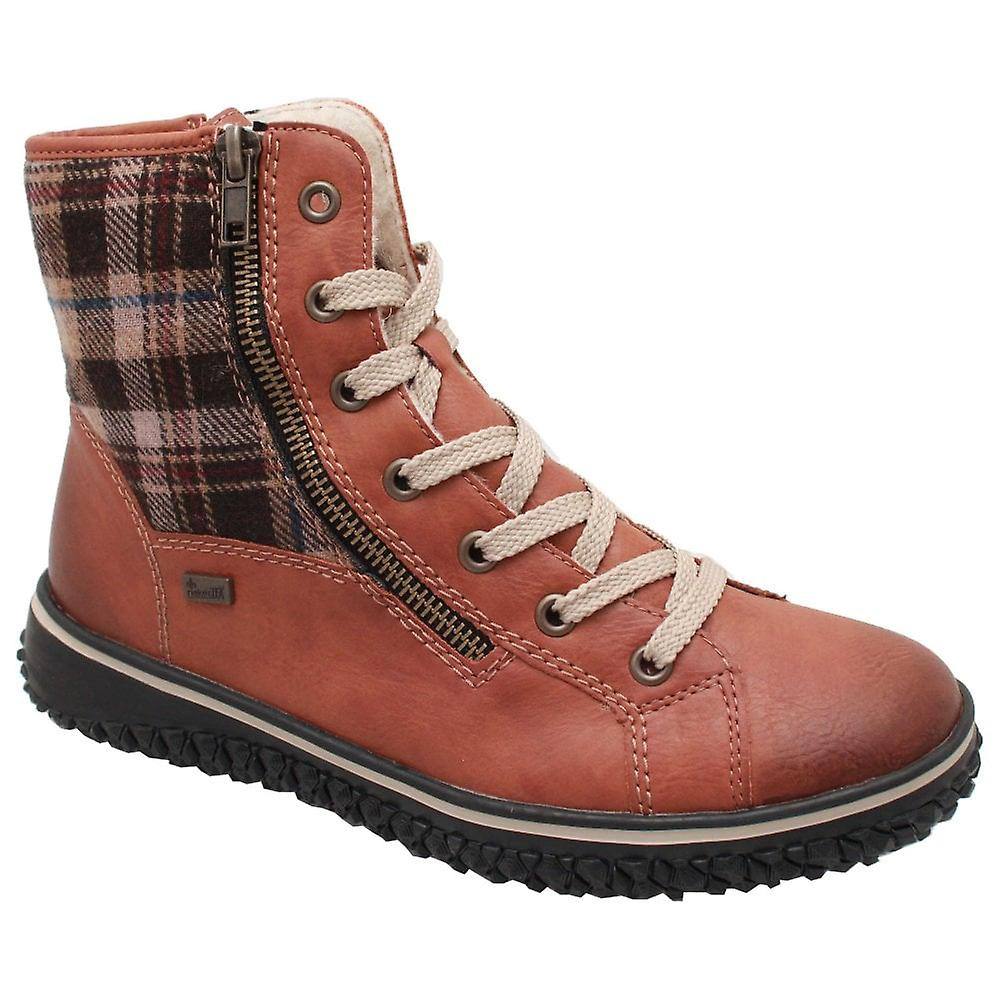 Rieker Tan Waterproof Lace Up Lined Ankle Boot ECpAa