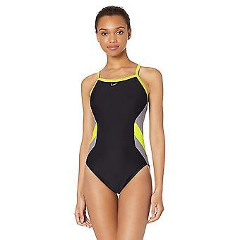 Nike Swim Women's Color Surge Crossback One Piece Swimsuit, Volt,, Volt, Size 36