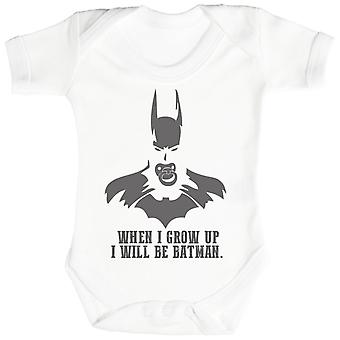 Will Be Bat Manl When I Grow Up - Baby Bodysuit