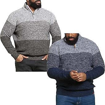Duke D555 Mens Savannah Big & Tall KingSize Knitted Half Zip Pullover Jumper Top