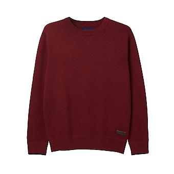 Joules Eskdale Milano Stitch Jumper Deep Red