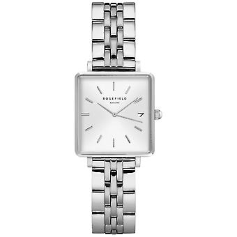 Rosefield the mini boxy Watch for Women Analog Quartz with Stainless Steel Bracelet QMWSS-Q020