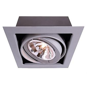 Recessed ceiling lamp Kardan G53 / QR111 max. 50W silver 193x193mm dimmable aluminium