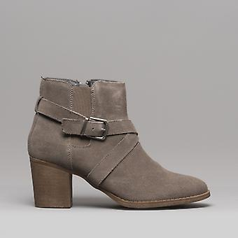 Hush Puppies Shilo Ladies Suede Ankle Boots Grey