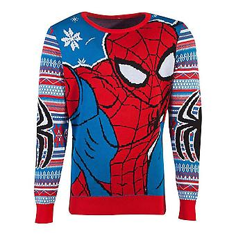 Marvel Comics Spider-man Knitted Christmas Sweater Unisex Small (KW104560MVL-S)