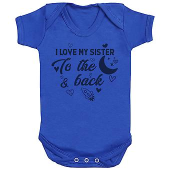 I Love My Sibling To The Moon And Back - Matching Kids Set - Bodysuits pour bébé - Ensemble cadeau