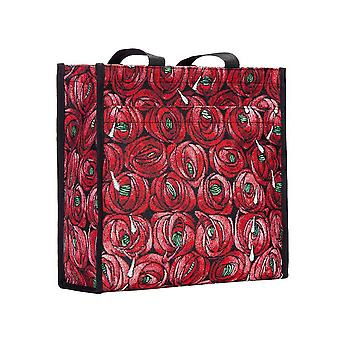 Mackintosh - rose and teardrop shopper bag by signare tapestry / shop-rmtd