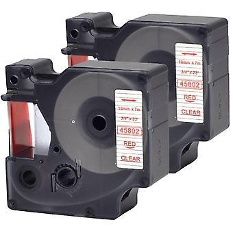Kaseta Prestige™ kompatybilna d1 45802 red na taśmach bezprzezroczystych (19mm x 7m) dla producentów etykiet elektronicznych