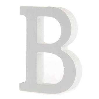 White Large Capital Alphabet Letters-B