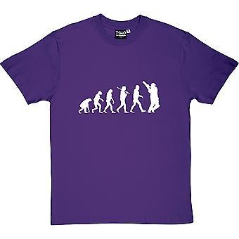 A Evolução do Críquete Roxo Men's T-Shirt