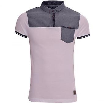 Rohkea sielu New miesten suunnittelija rohkea sielu kaulus Polo T paita rento ja rintatasku