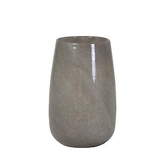 Lys & Levende Vase 18x27.5cm Madgee Effekt Glass Grå