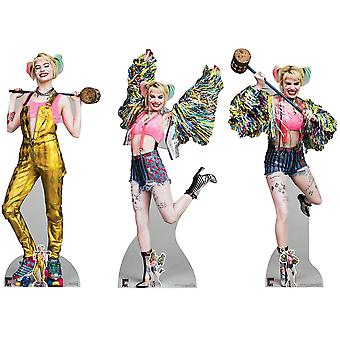 Harley Quinn (Margot Robbie) from Birds Of Prey Cardboard Cutout / Standee Collection - Set of 3