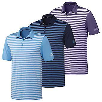 adidas Golf Herre 2020 Ultimate 3-farve Merch Stripe Stretch Polo Shirt
