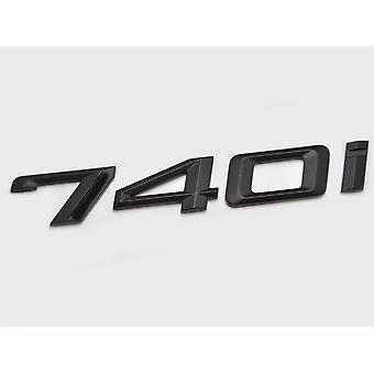 Matt Black BMW 740i Car Model Rear Boot Number Letter Sticker Decal Badge Emblem For 7 Series E38 E65 E66E67 E68 F01 F02 F03 F04 G11 G12