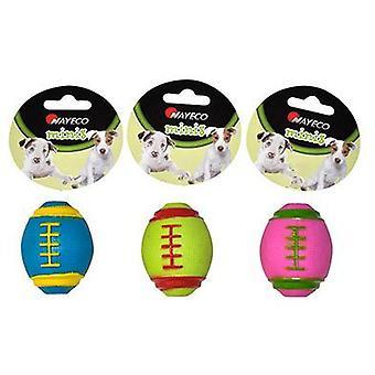 Nayeco Petit chien ballon de rugby de jouet (Chiens , Jouets et sport , En latex)