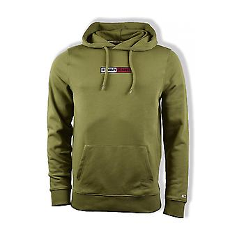 Tommy Jeans Embroidered Box Hoody (Uniform Olive)