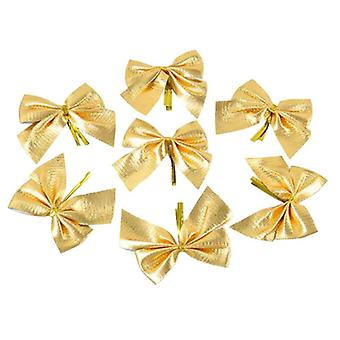 12 pcs rosettes for Christmas decoration-gold