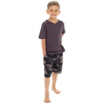 Tom Franks Boys V-Neck Camo Short Pyjama Set