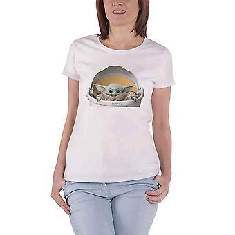 マンダロリアンTシャツチャイルドポッドベビーヨーダ公式レディーススキニーフィット