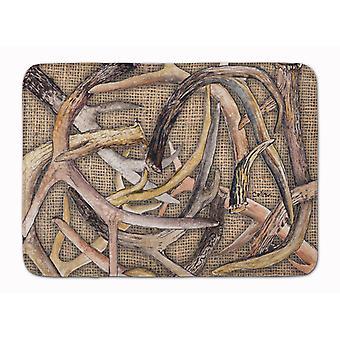 Carolines Treasures  8732RUG Deer Horns Machine Washable Memory Foam Mat
