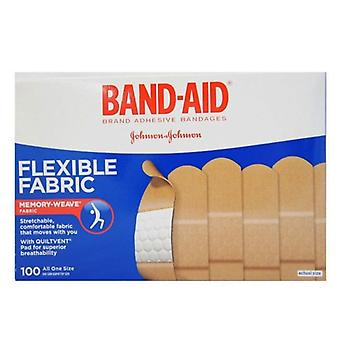 Band-aid flexible fabric bandages, all one size, 1 inch, 100 ea