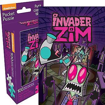 Invader Zim 100 Piece Adult Pocket Puzzle