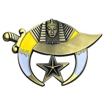 Cut out 3d shriner auto car badge emblem