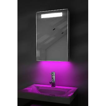 LED Ambient Badezimmer Spiegelschrank mit Sensor & Rasierer Sockel k258