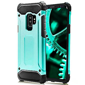 Shell pour Samsung Galaxy S9 Turquoise Blue Armor Protection Case Hard