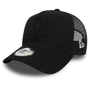 Fresh Ego Kid Mesh Trucker Baseball Cap Black 37