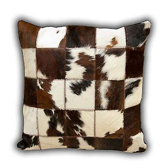 Rugs -Leather Patchwork Cow Cushion No.1