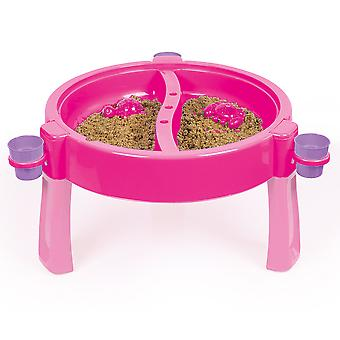 Dolu 3-en-1 Unicorn Sand & Water Pit con mesa de dibujo rosa / púrpura