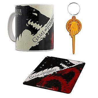 Game of Thrones, gift set-mug, coasters, keychain