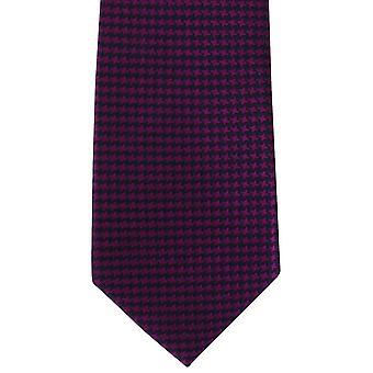 Michelsons de Londres negrito Dogtooth gravata de seda - Magenta