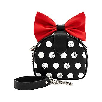 Minnie Mouse Crossbody Bag Minnie Polka Big Red Bow new Official Loungefly Black