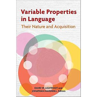 Variable Properties in Language - Their Nature and Acquisition by Davi