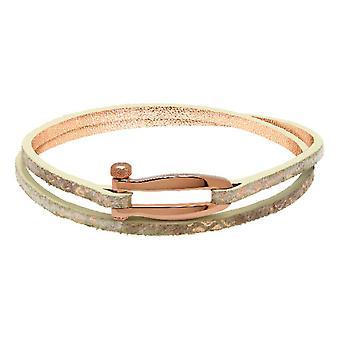Rochet B25691410DT bracelet - BOHEME PVD Rose - Textile Python Rose Double Tour Women's Link